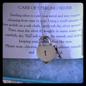Tiffany & Co. Heart lock and key necklace.... Rare